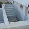 Kellerabgang mit Fundament für Balkonanlage